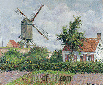Windmill at Knocke, 1894 | Pissarro | Painting Reproduction