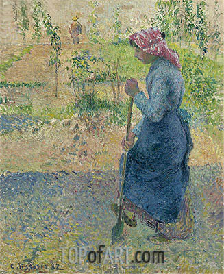 Paysanne Bechant, 1882 | Pissarro| Painting Reproduction