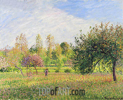 Eragny, Summer, Sun, The End of the Afternoon, 1901 | Pissarro| Painting Reproduction
