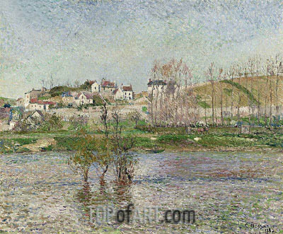 Flooding to Pontoise, 1882 | Pissarro| Painting Reproduction