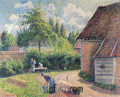 House of Farmers, 1892 | Pissarro| Painting Reproduction