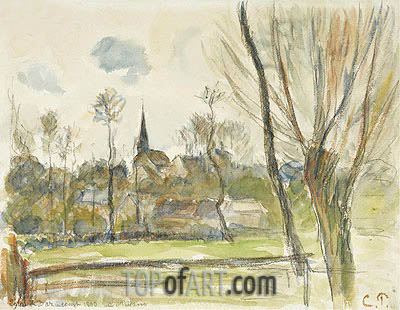 Esplanade se Bazincourt, 1890 | Pissarro| Painting Reproduction