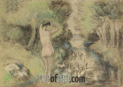 La Baigneuse aux Oies, c.1895 | Pissarro| Painting Reproduction