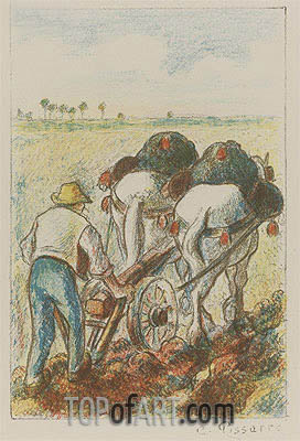 The Plough, 1901 | Pissarro| Painting Reproduction