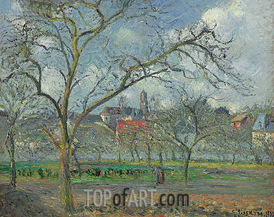 Verger a Saint-Ouen-l'Aumone en Hiver, 1877 | Pissarro| Painting Reproduction