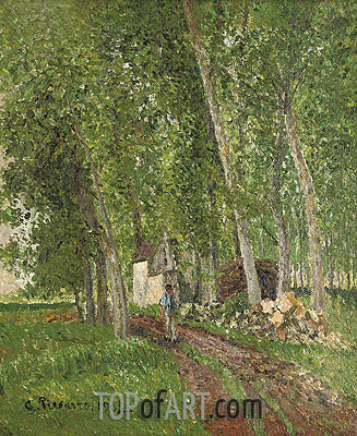 Sous-Bois a Moret , 1902 | Pissarro | Painting Reproduction