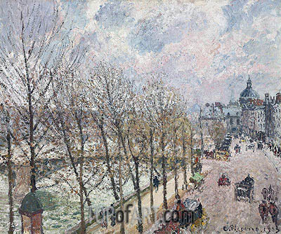 Le Quai Malaquais et l'Institut, 1903 | Pissarro | Painting Reproduction