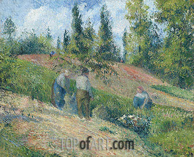 La Recolte, Pontoise, 1880 | Pissarro| Painting Reproduction