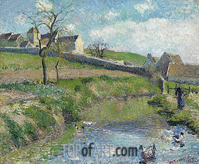 La Ferme du Friche a Osny, 1883 | Pissarro| Painting Reproduction