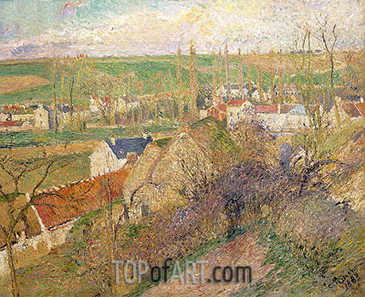 Vue Sur le Village d'Osny, 1883 | Pissarro | Painting Reproduction