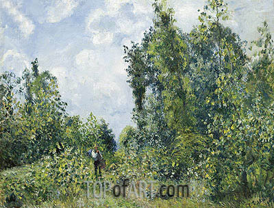 Lisiere de Bois, 1878 | Pissarro | Painting Reproduction