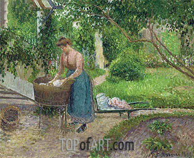 Washer Eragny, 1899 | Pissarro| Painting Reproduction