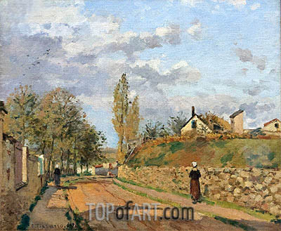 Street in Pontoise, 1872 | Pissarro | Painting Reproduction