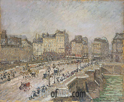 Pont Neuf, Snow Effect, 1902 | Pissarro| Painting Reproduction