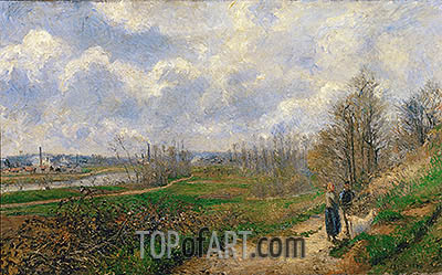La Sente du Chou, near Pontoise, 1878 | Pissarro| Painting Reproduction