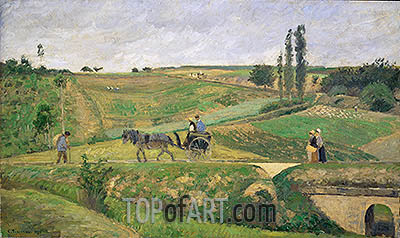 Road to Ennery, 1874 | Pissarro | Painting Reproduction