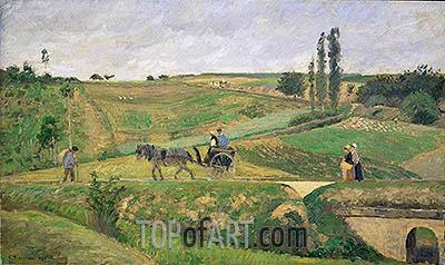 Road to Ennery, 1874 | Pissarro | Gemälde Reproduktion