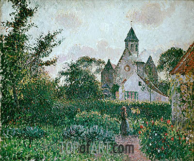 The Church in Knocke, 1894 | Pissarro | Painting Reproduction