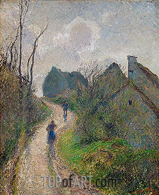 Road Climbing to Osny, 1883 | Pissarro | Painting Reproduction