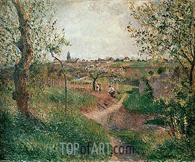 A Path through the Fields, Pontoise, 1879 | Pissarro| Painting Reproduction