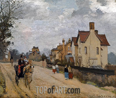 Street in Upper Norwood, 1871 | Pissarro | Painting Reproduction