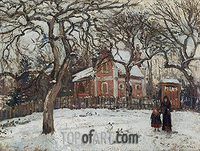 Chestnuts at Louveciennes, 1879 | Pissarro| Painting Reproduction