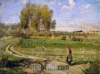 Giverny, undated | Pissarro| Painting Reproduction