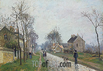 The Road: Rain Effect, 1870 | Pissarro| Painting Reproduction