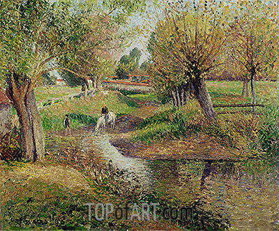 Watering Hole, Eragny, 1895 | Pissarro | Painting Reproduction