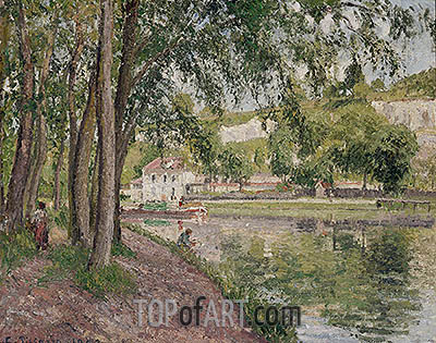 Moret, the Loing Canal (The Towpath at Saint-Mammes), 1902 | Pissarro| Painting Reproduction