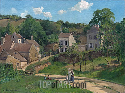 The Hermitage at Pontoise, c.1867 | Pissarro | Painting Reproduction