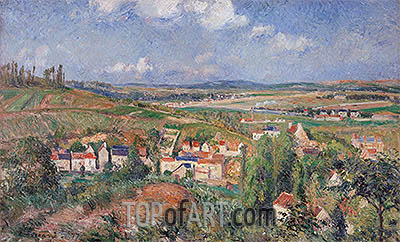 The Hermitage in Summer, Pontoise, 1877 | Pissarro | Painting Reproduction