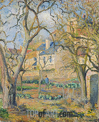 Vegetable Garden, 1878 | Pissarro| Painting Reproduction