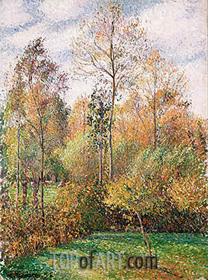 Autumn, Poplars, Eragny, 1894 | Pissarro | Painting Reproduction
