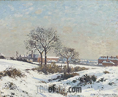 Snowy Landscape at South Norwood, 1871 | Pissarro | Painting Reproduction