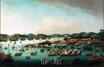 Hong Kong Harbour, undated | Cantonese School | Gemälde Reproduktion