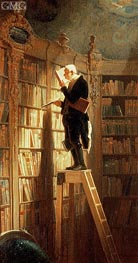The Book Worm, Undated von Carl Spitzweg | Gemälde-Reproduktion