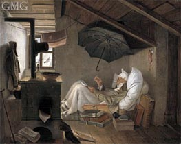 The Poor Poet, 1839 by Carl Spitzweg | Painting Reproduction