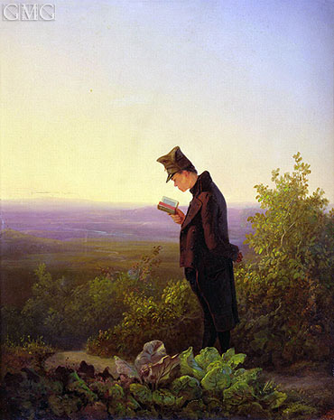 Reading the Breviary, The Evening, c.1845 | Carl Spitzweg | Painting Reproduction