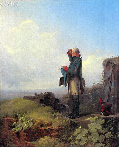 Peace in the Land, 1846 | Carl Spitzweg | Gemälde Reproduktion