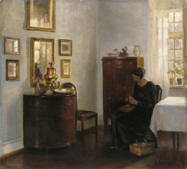 Woman with Fruit Bowl, c.1900/10 von Carl Vilhelm Holsoe | Gemälde-Reproduktion