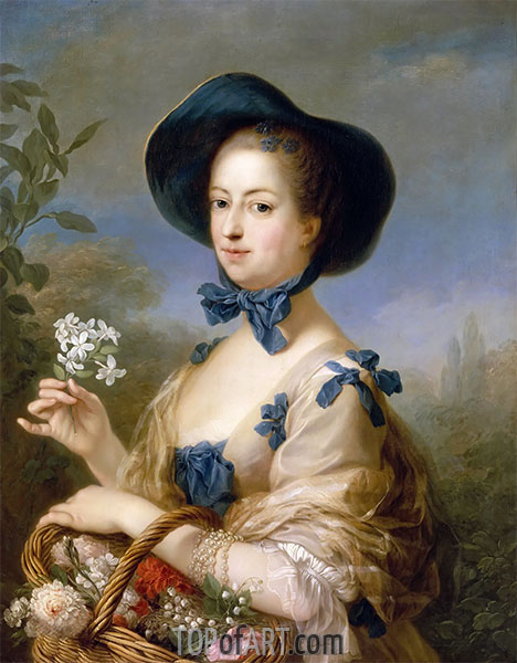 The Marquise de Pompadour as Gardener, c.1754/55 | Charles-André van Loo | Painting Reproduction