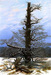 Oak Tree in Snow, c.1829 by Caspar David Friedrich | Painting Reproduction