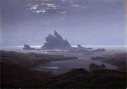 Rocky Reef on the Sea Shore, c.1824 by Caspar David Friedrich | Painting Reproduction