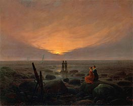 Moonrise over the Sea, 1821 by Caspar David Friedrich | Painting Reproduction