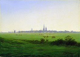 Meadows near Greifswald, c.1822 by Caspar David Friedrich | Painting Reproduction