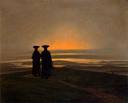 Sunset, Brothers (Evening Landscape with Two Men), c.1830/35 by Caspar David Friedrich | Painting Reproduction