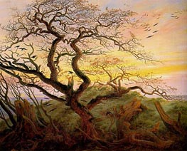 The Tree of Crows, c.1822 by Caspar David Friedrich | Painting Reproduction
