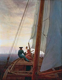 On the Sailing Boat, c.1818/20 by Caspar David Friedrich | Painting Reproduction