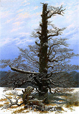 Caspar David Friedrich | Oak Tree in Snow, c.1829